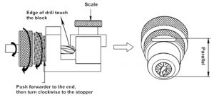 Operations Guide of Drill Bit Grinding, Calibration Positioning