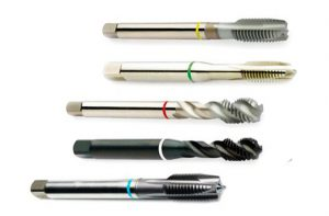 The cutting tool that need to be sharpened: screw tap