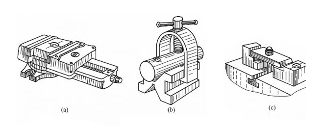 Clamping method of workpiece in drilling
