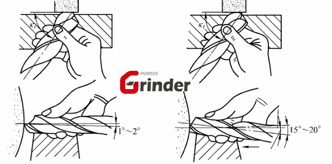 How to grind the worn bit by hand?